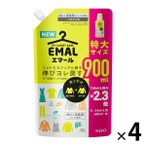 エマール リフレッシュグリーンの香り 詰め替え 900ml 1セット(4個入) 衣料用洗剤 花王