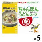 ヒガシマル ちゃんぽんうどんスープ 5箱