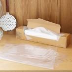 アウトレット ポリ袋 食品保存袋 LL (マチ無し・冷凍・冷蔵対応)ツルツルタイプ 透明 1箱(100枚入)ロハコ(LOHACO)オリジナル