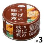 アウトレット さばの味噌煮  国産さば使用  1セット(190g×3缶) ノルレェイク・インターナショナル