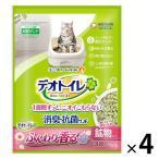 箱売り デオトイレ ふんわり香る消臭・抗菌サンド ホワイトフローラル3.8L 4袋 猫砂 ユニ・チャーム