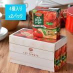 ロハコ先行発売デルモンテ 完熟カットトマト340g×4個パック 2パック