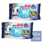 激落ちくん 流せる除菌トイレクリーナー 99.9 除菌 大判サイズ 10枚入 2コパック