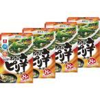 理研ビタミン リケン わかめスープ ファミリーパック ねぎのピリ辛スープ8袋 4個