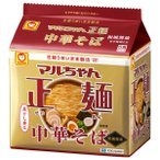 東洋水産 マルちゃん正麺 中華そば 和風醤油 5P 1個