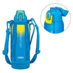 アウトレット サーモス(THERMOS) 水筒 真空断熱スポーツボトル 1000ml ブルーカモフラージュ 1リットル FHT-1000F BL-C