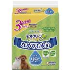 デオクリーン 犬猫用 純水99%ウェットティッシュ 詰め替え用 お買い得 210枚(70枚×3個)ユニ・チャーム