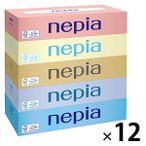 ティッシュペーパー 150組(5箱入) 1セット(12パック) ネピアティシュ 王子ネピア