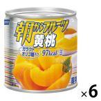 はごろもフーズ 朝からフルーツ黄桃 190g 6缶