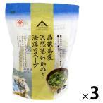 北野エース 〈魚の屋〉島根県産天然茎わかめと海藻のスープ (4g×12個入) 1セット(3個)