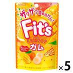 アウトレット ロッテ Fit'sCrispopガム オレンジ&マンゴー 1セット(27g×5個)