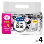 ウェットティッシュ アルコール除菌 シルコット 99.99%除菌 ウェットティッシュ 詰め替え 1セット(4 パック)ユニ・チャーム