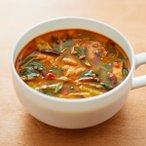 無印良品 食べるスープ 豚肉とチンゲン菜の胡麻味噌担々スープ 1袋(4食分) 良品計画