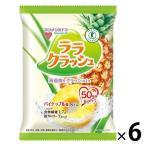 マンナンライフ (特定保健用食品) 蒟蒻畑ララクラッシュ パイナップル味 1セット(6袋)