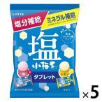 セール品 ロッテ 塩小梅タブレット(袋) 梅&レモン  5個