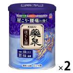 入浴剤 温泉の素 バスロマン 薬泉 ほぐし浴 気分ほぐれる薬草の香り 750g 2個 (にごりタイプ) アース製薬