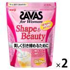 ザバス(SAVAS) フォーウーマン シェイプ&ビューティ ミルクティー風味 45食分 1セット(2袋)明治 プロテイン