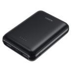AUKEY モバイルバッテリー PB-N66-BK 10000mAh大容量 コンパクト スマホ充電器 超薄型 軽量 急速充電 超小型 ミニ型 携帯充電器