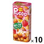 明治 プッカ いちご 10箱 チョコレート お菓子
