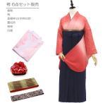 卒業式 袴 セット 購入 キラリ輝くサクラ柄グラデーション 身長約151から170対応