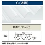 【送料別途】 カーポート屋根88タイプ【透明(C)/ポリカ折板(Y600)】厚み2.0mm 長さ2401〜2500mm(オーダー)働き幅600mm/1枚価格/明かりとり/採光/