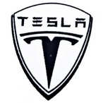 全国配送料無料!テスラ電気自動車 T シャツ CT06 アイロン パッチ 海外正規流通品 並行輸入品