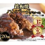 飯塚市 ふるさと納税 鉄板焼きハンバーグ(デミソース)20個