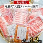 丸森町 ふるさと納税 「古今東北」丸森町大槻ファームの豚肉5種類 計1.2kgセット【さとふる限定】