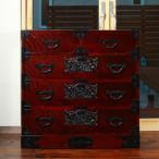 利府町 ふるさと納税 仙台箪笥  二・八尺箪笥85 拭き漆塗り