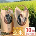 出水市 ふるさと納税 11月上旬発送 令和2年産 鶴秀(かくしゅう)米 ヒノヒカリ(玄米)10kg【5kg×2袋】