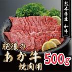 ふるさと納税 宇城市 熊本県産 和牛 あか牛焼肉用500g(宇城市)