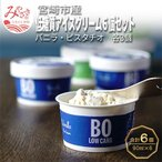 ふるさと納税 宮崎市 低糖質アイスクリーム6個セット