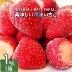 ふるさと納税 横芝光町 産地直送!BELL FARMの美味しい冷凍いちご 【1kg×1箱】