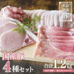 ふるさと納税 泉佐野市 氷温(R)熟成豚 国産豚4種セット1.2kg 005A349