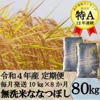 ふるさと納税 秩父別町 令和3年産 無洗米ななつぼし定期便80kg(毎月10kg×8か月)【新米】【TB-21】