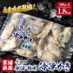 ふるさと納税 石巻市 氷温熟成かき 生食用(冷凍)300g×6パック