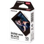 チェキ フィルム instax mini ブラック 1P(10枚) 単品 富士フイルム