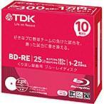 TDK 2倍速対応 BD-RE 10枚パック BEV25PWA10UB インクジェットプリンタ対応 ブルーレイディスク 25GB ホワイトプリンタブル
