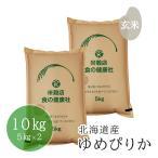 玄米 お米 10kg 米 北海道産 ゆめぴりか 5kg×2 令和元年産 分搗き 送料無料 (※北海道・沖縄・離島を除く)