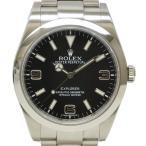 本物 ロレックス ROLEX 214270 エクスプローラー1 腕時計 AT オートマ 自動巻 ブラック文字盤 メンズ 中古