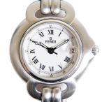 本物 フェンディ FENDI ヴィンテージ 腕時計 QZ クオーツ 電池式 SS ステンレス ホワイト文字盤 1600L レディース 中古