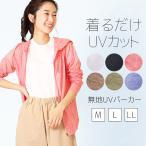 レディース UVカット パーカー 無地 長袖 フルジップ ファスナー パーカー 日焼け 紫外線 UV 対策 防止 カット CUT 速乾 DRY  UV対策 メール便送料無料