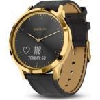 【04/25発売予定】 ガーミン(GARMIN) vivomove HR Gold-Black Leather 010-01850-7C Gold