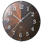イデアインターナショナル 掛け時計 「2WAYグラデーションウッドクロック」 BCW021-DW