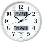 セイコー SEIKO 電波掛け時計 ネクスタイム ZS250W 白パール