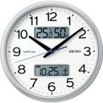 セイコー SEIKO 電波掛け時計 ネクスタイム ZS251S 銀色メタリック
