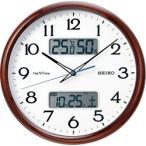 セイコー SEIKO 電波掛け時計 ネクスタイム ZS252B 茶木目模様光沢仕上げ