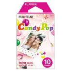 富士フイルム(フジフイルム) チェキ インスタントカラーフィルム instax mini 絵柄入りフレーム 「キャンディポップ」 1パック(10枚入)