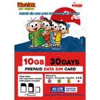 日本通信 ナノSIM ソフトバンク回線「MonicaSIM 10GB/30Days Prepaid」 NS-MS10G30D-MO  [SMS非対応 /ナノSIM]