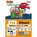日本通信 ナノSIM ソフトバンク回線「MonicaSIM 7GB/21Days Prepaid」 NS-MS7G21D-MO  [SMS非対応 /ナノSIM]